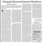 Dampak Ekonomi Internet Shutdown